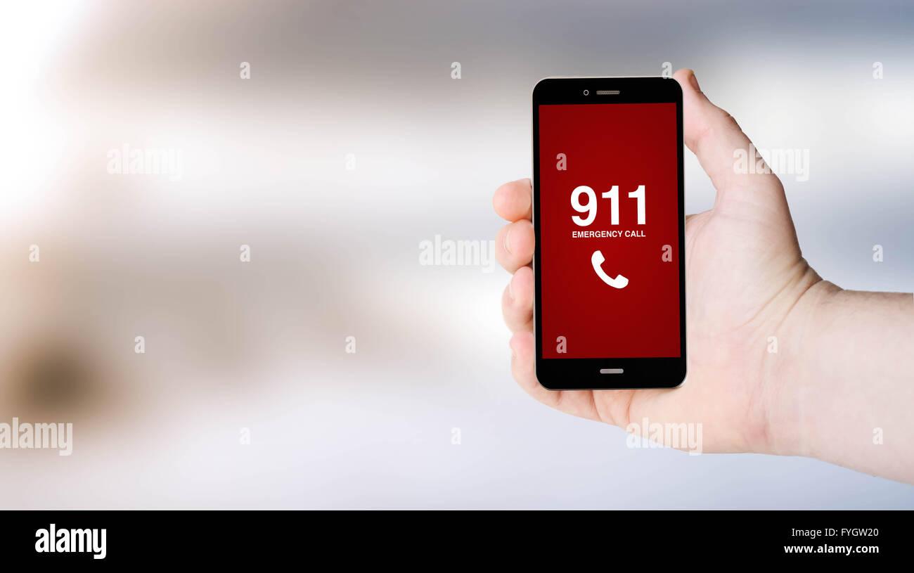 Il Concetto Di Sicurezza 911 Segno Sul Digitale Generato Lo Schermo