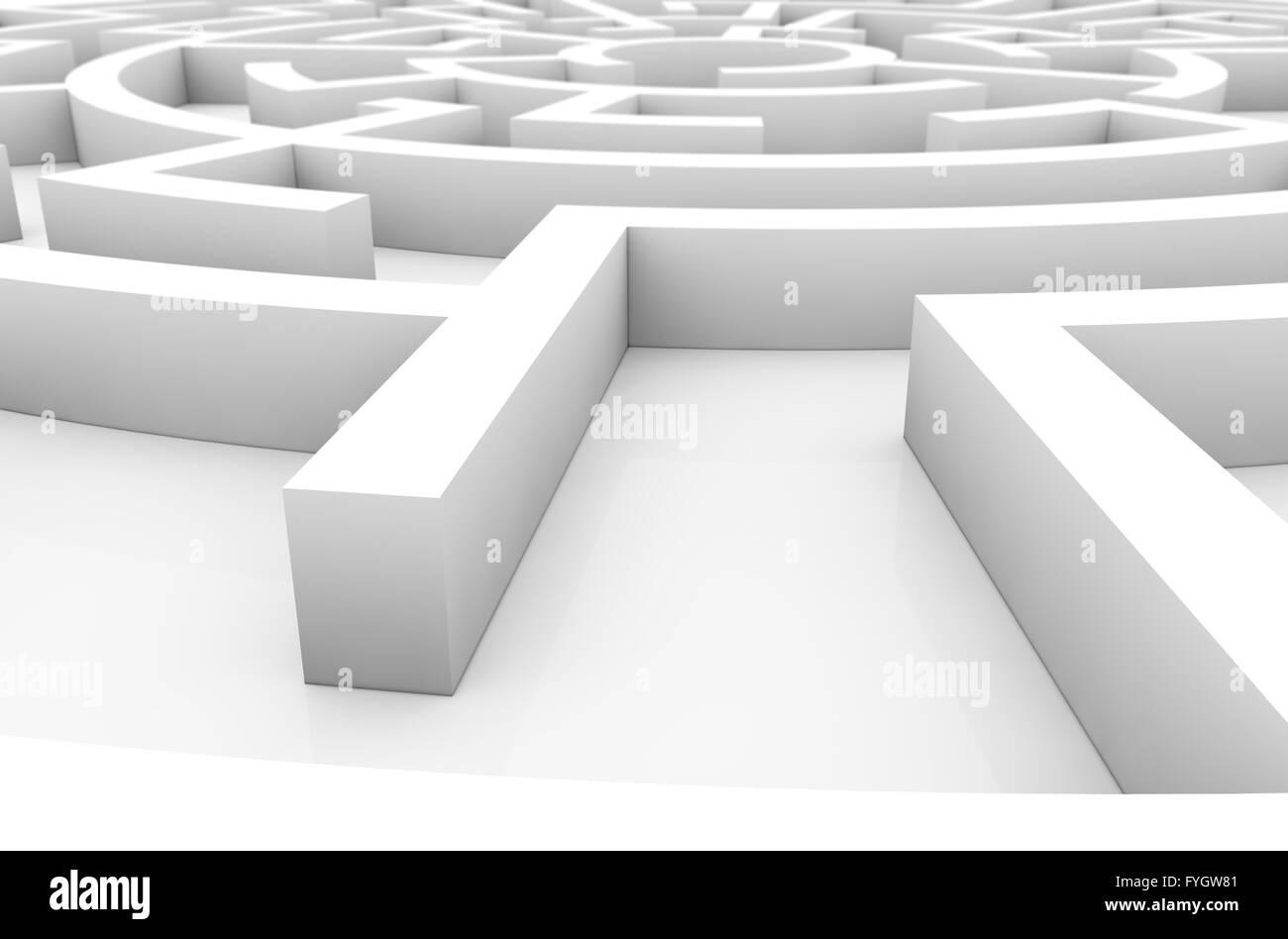 Il concetto di strategia: labirinto render Immagini Stock