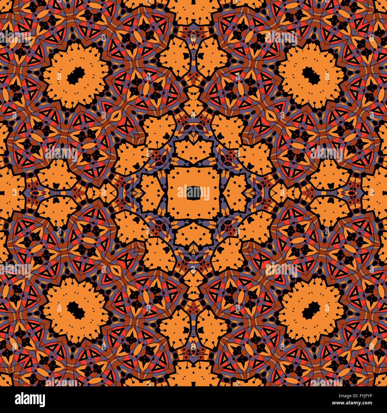 Arabesque Seamless Pattern Sfondo Fiori Vintage Texture Vettore