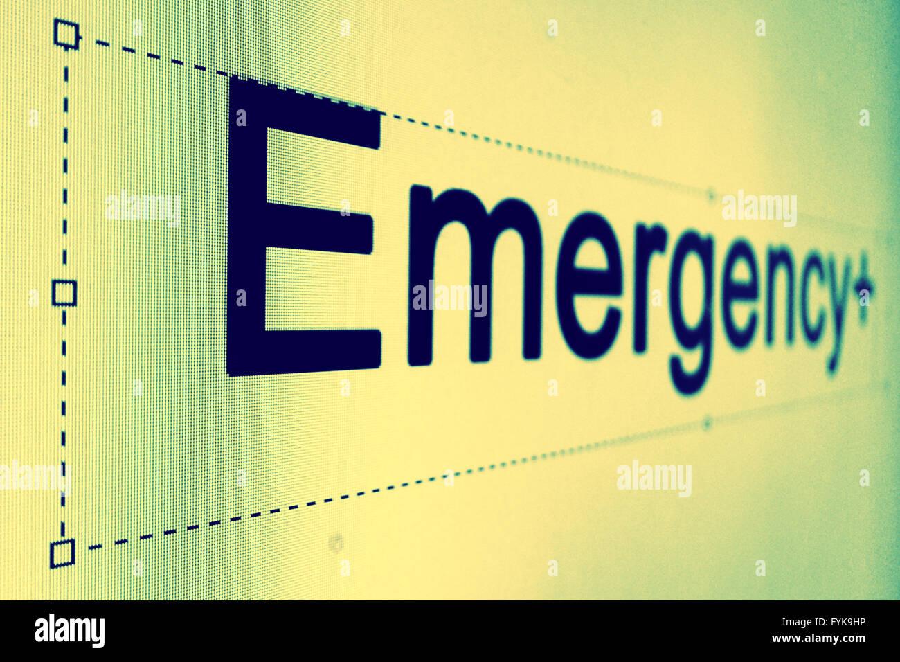 Parola d'emergenza Immagini Stock