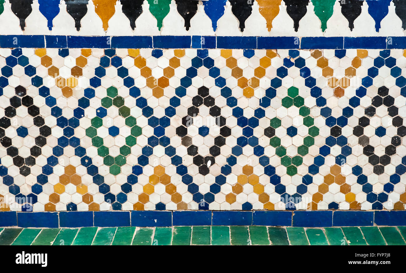 Vintage marocchino sfondo piastrelle foto immagine stock