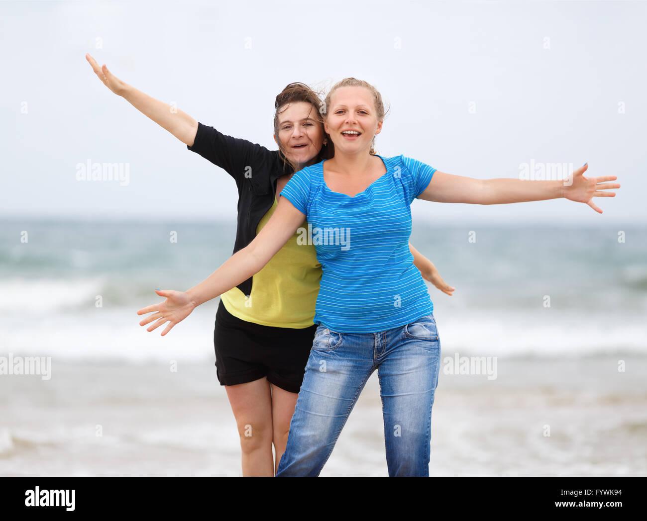 Funny ragazze Immagini Stock