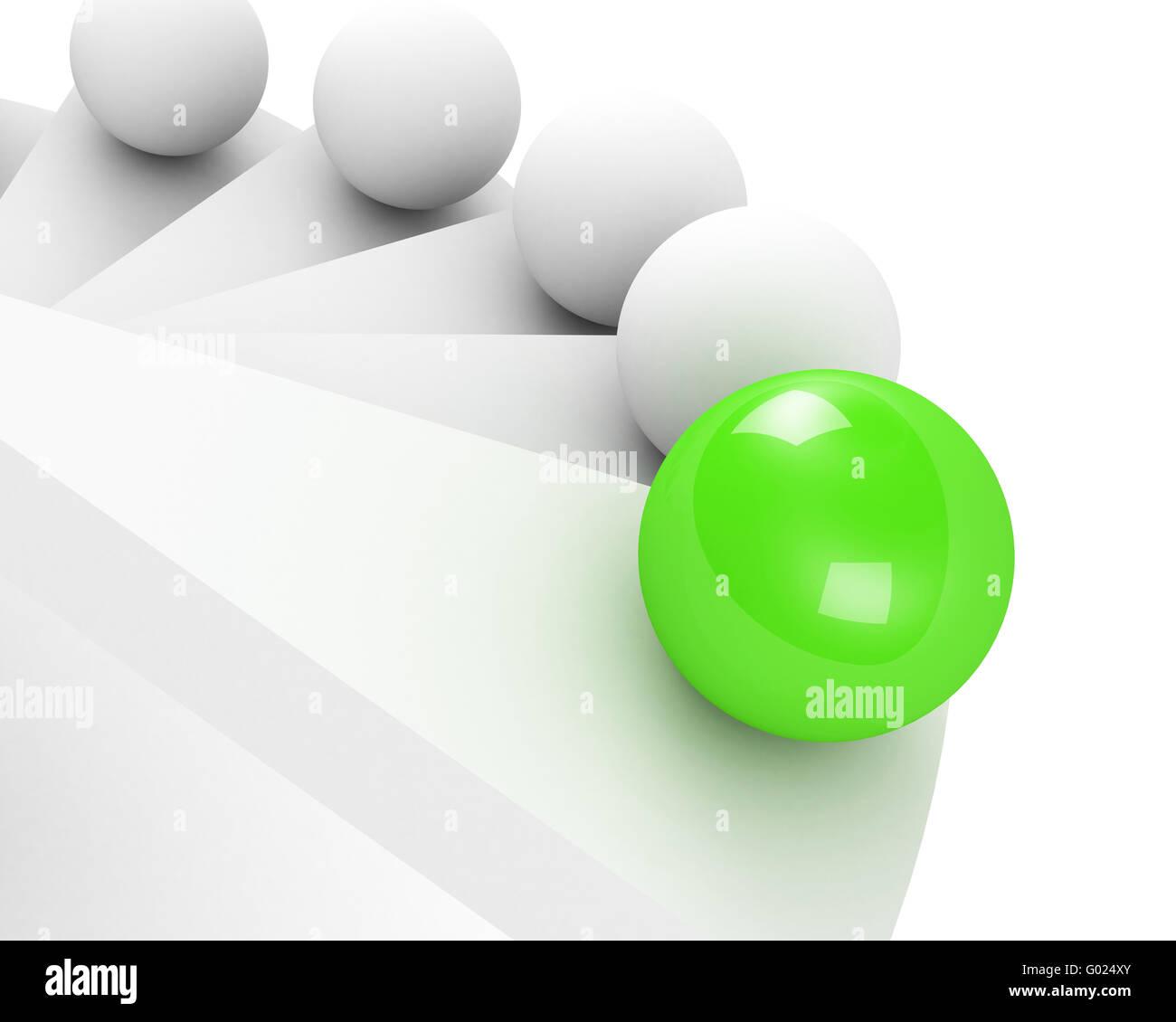 Scale fino a successo il concetto di leadership. verde Foto Stock