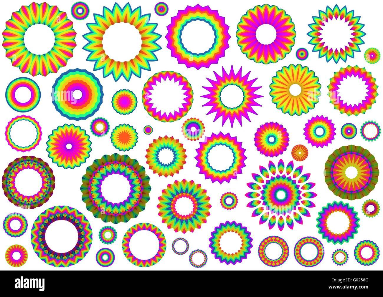 Forme di arcobaleno Immagini Stock