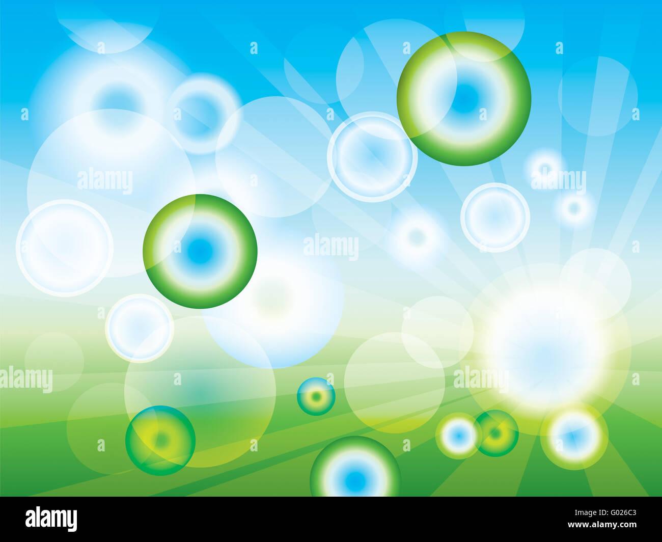 Pulire astratta sfondo verde (in EPS-10) Immagini Stock