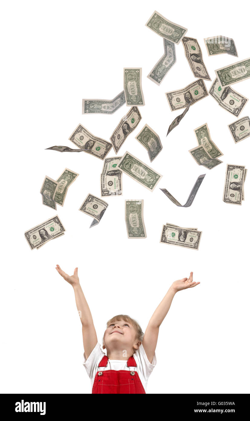 La cattura di dollari Immagini Stock