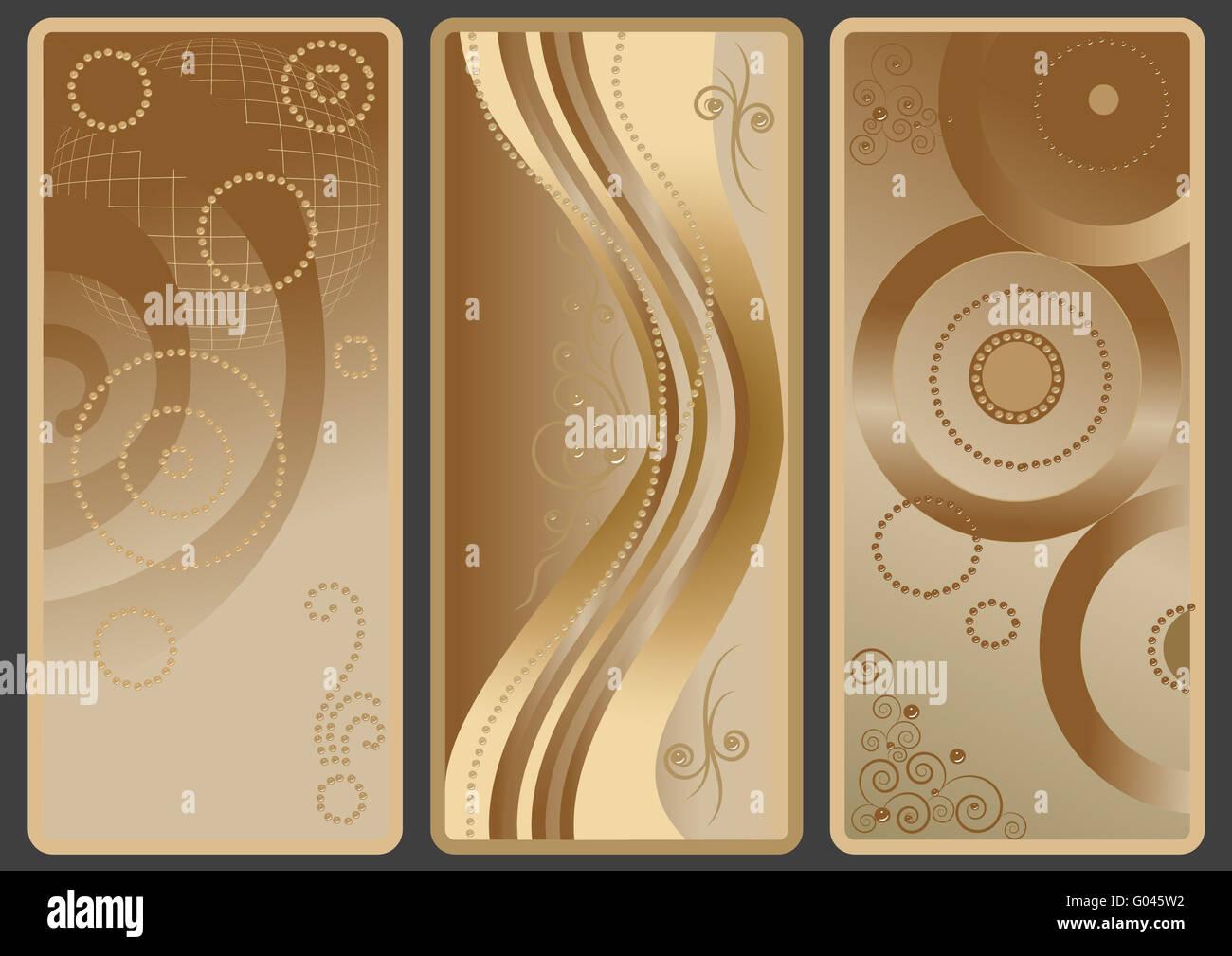 Varianti di background con nuance di colore marrone. Immagini Stock