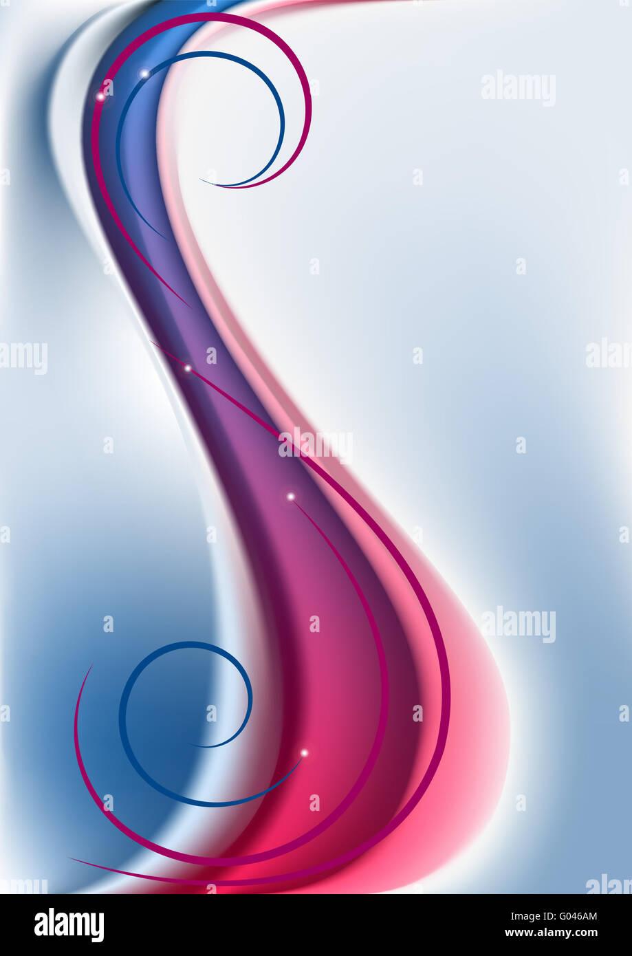 Luce astratta sfondo blu con il rosso e il blu w Immagini Stock