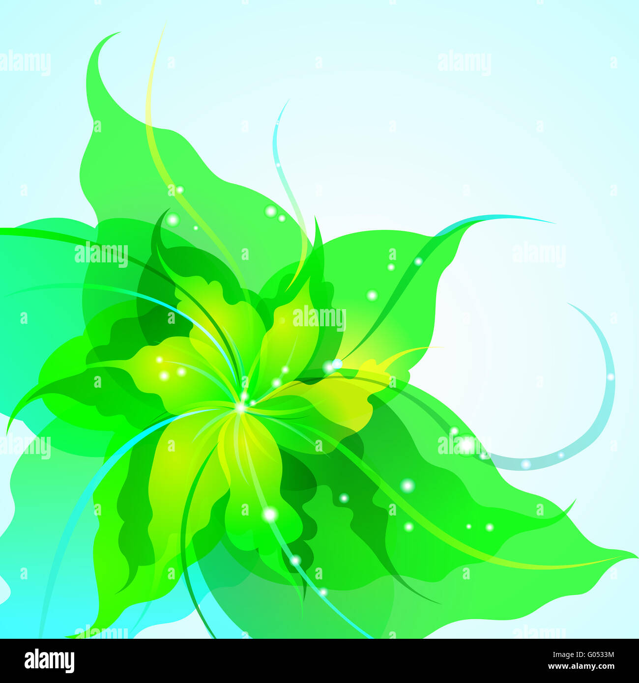EPS10 sfondo floreale Immagini Stock