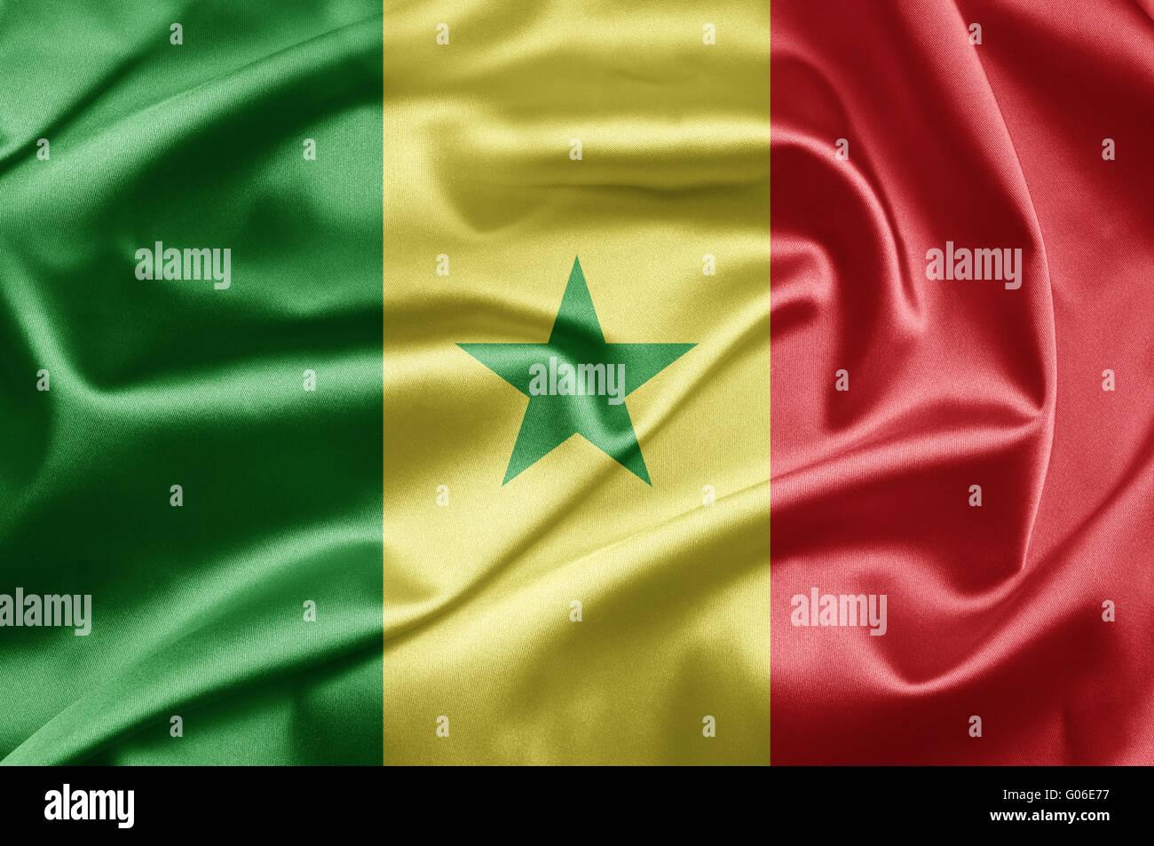 Bandiera del Senegal Immagini Stock