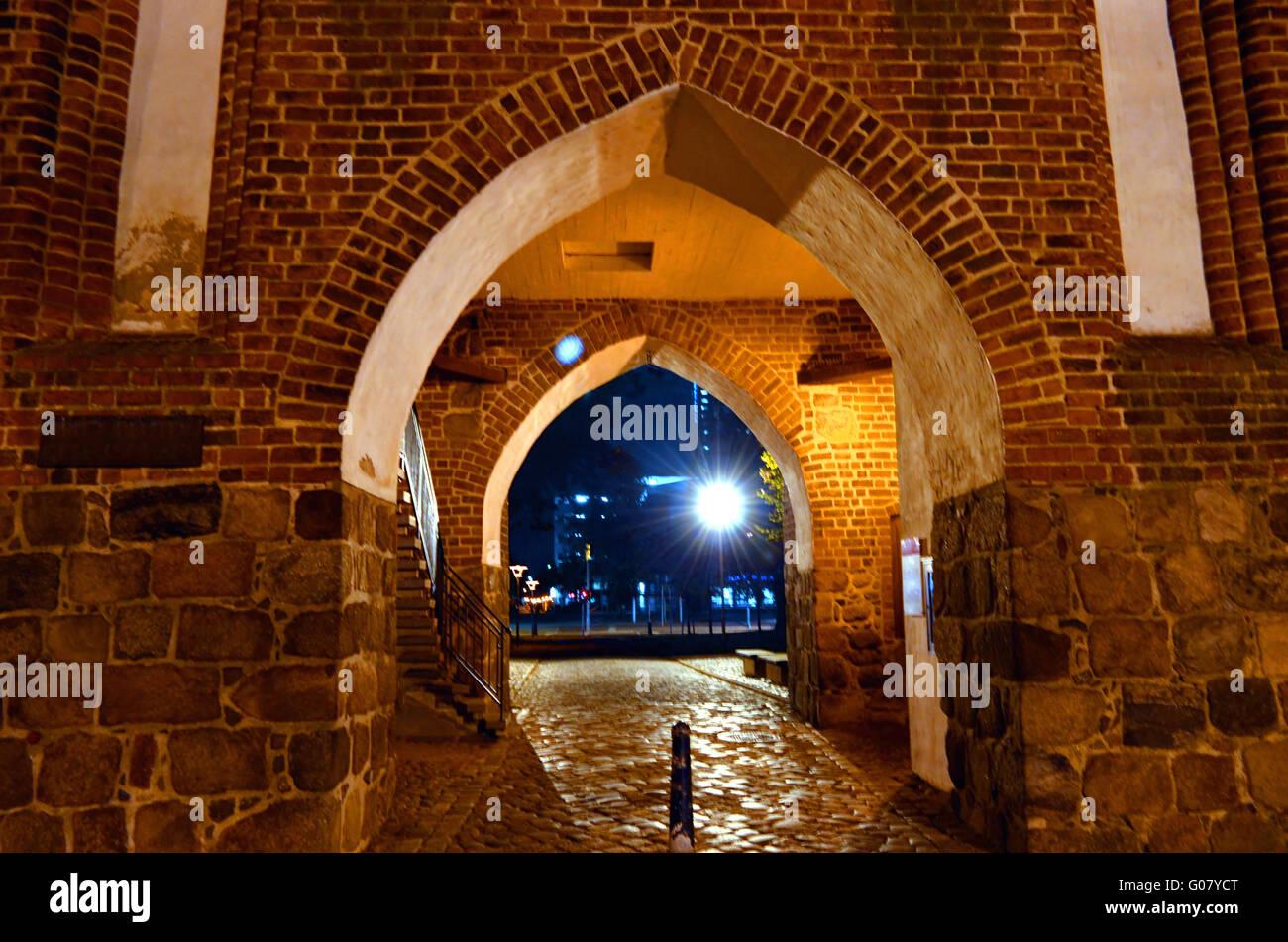 Un cancello in Neubrandenburg Immagini Stock
