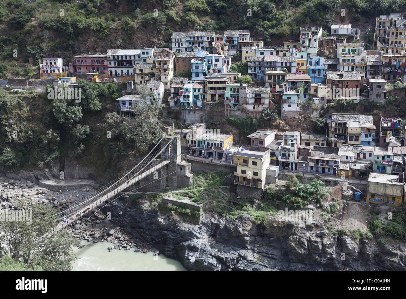 Devprayag, Gange, India del Nord Foto Stock