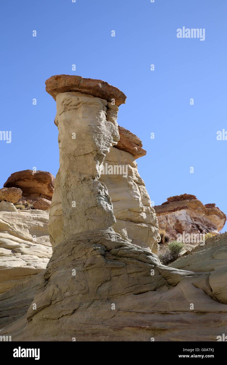 La bianca Valle Hoodos Foto Stock
