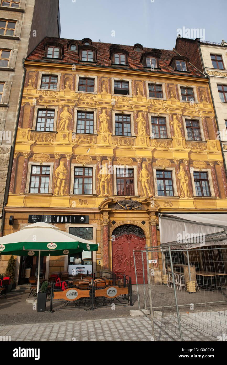 Casa Di Sette Elettori Nella Città Vecchia La Città Di Wroclaw