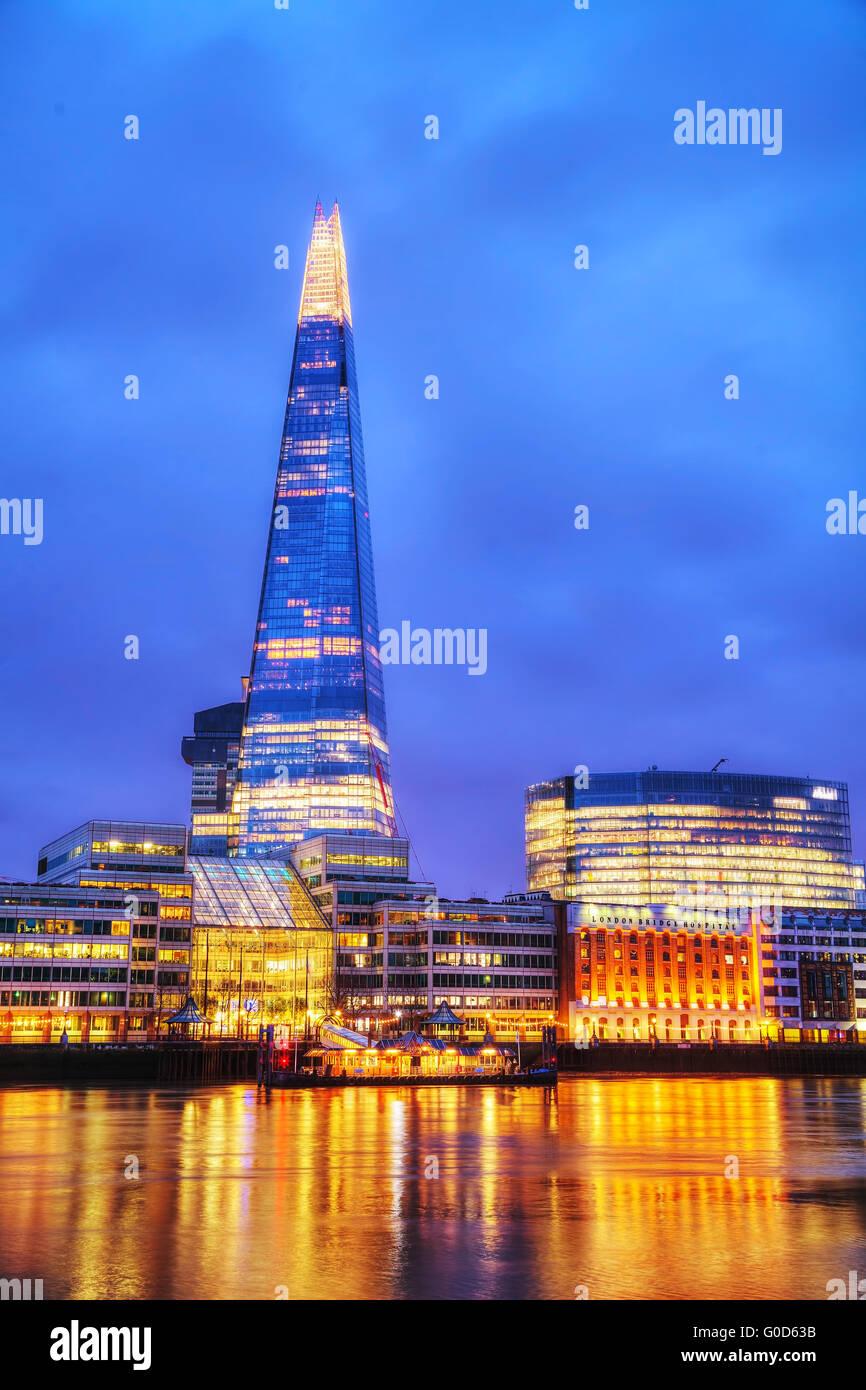 Panoramica di Londra con la Shard London Bridge Immagini Stock