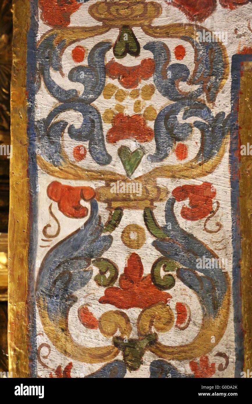 Santa Clara Chiesa Museo a Bogotà, in Colombia. Ospita una importante mostra sull'arte religiosa. Immagini Stock