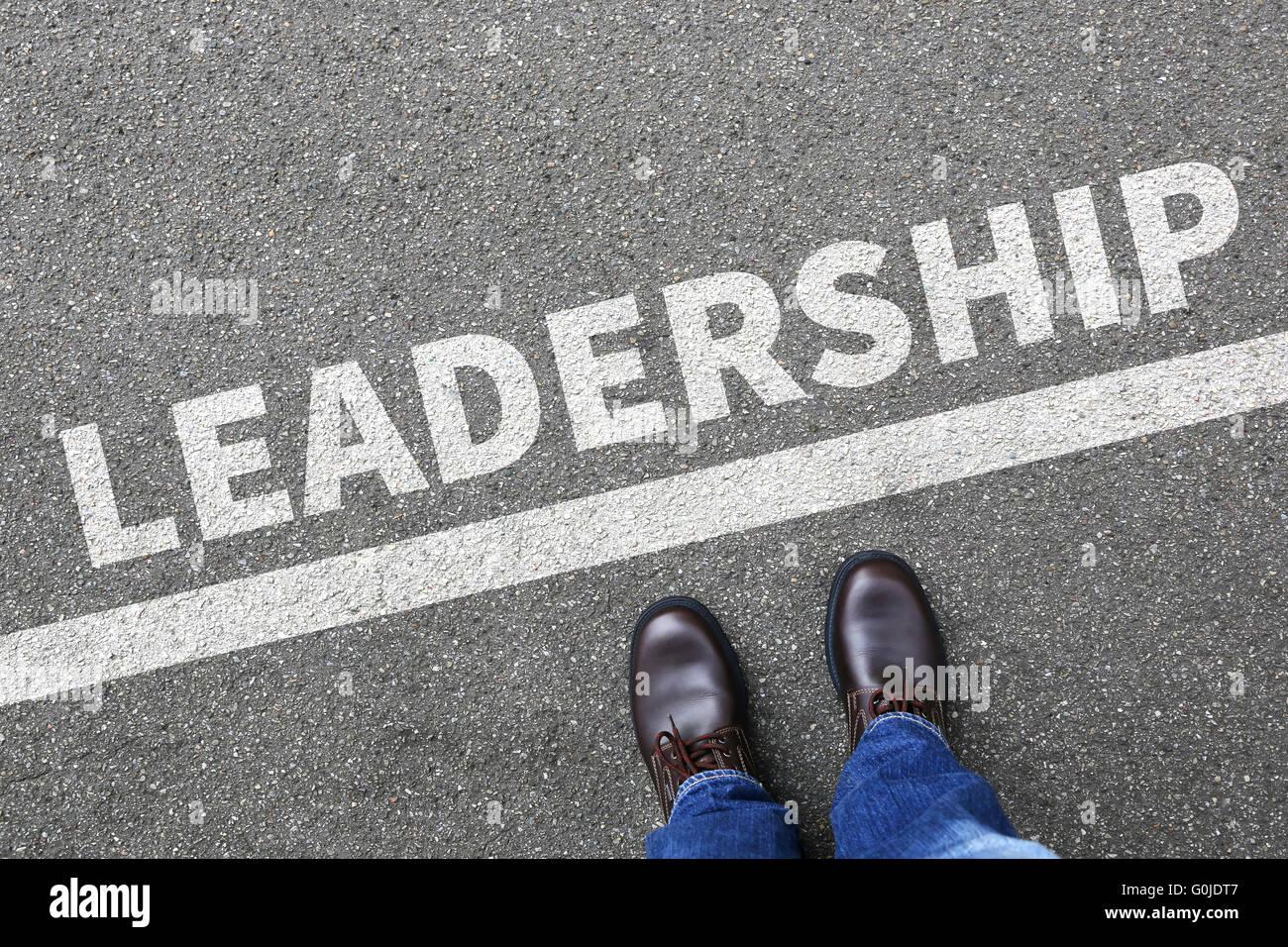 Leadership leader di successo di successo Win vincenti finanze crescita imprenditore il concetto di business development Immagini Stock