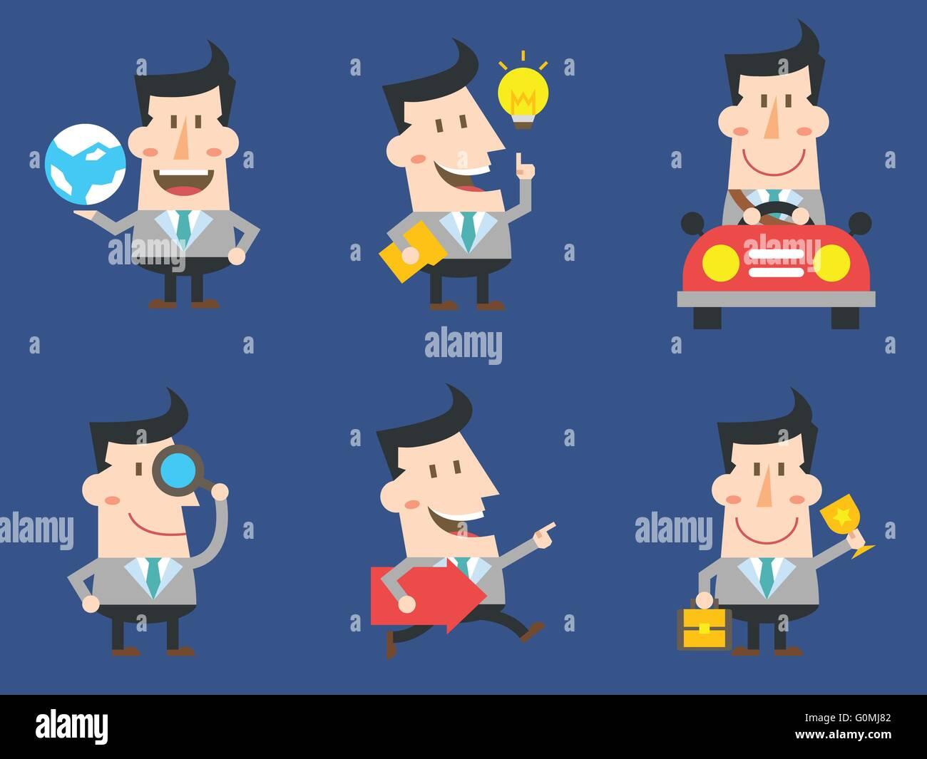 Carattere di lavoro II Immagini Stock