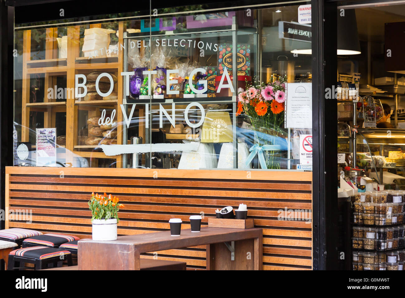 Bottega del Vino, Macleay Street, Potts Point, Sydney, NSW, Australia. Immagini Stock