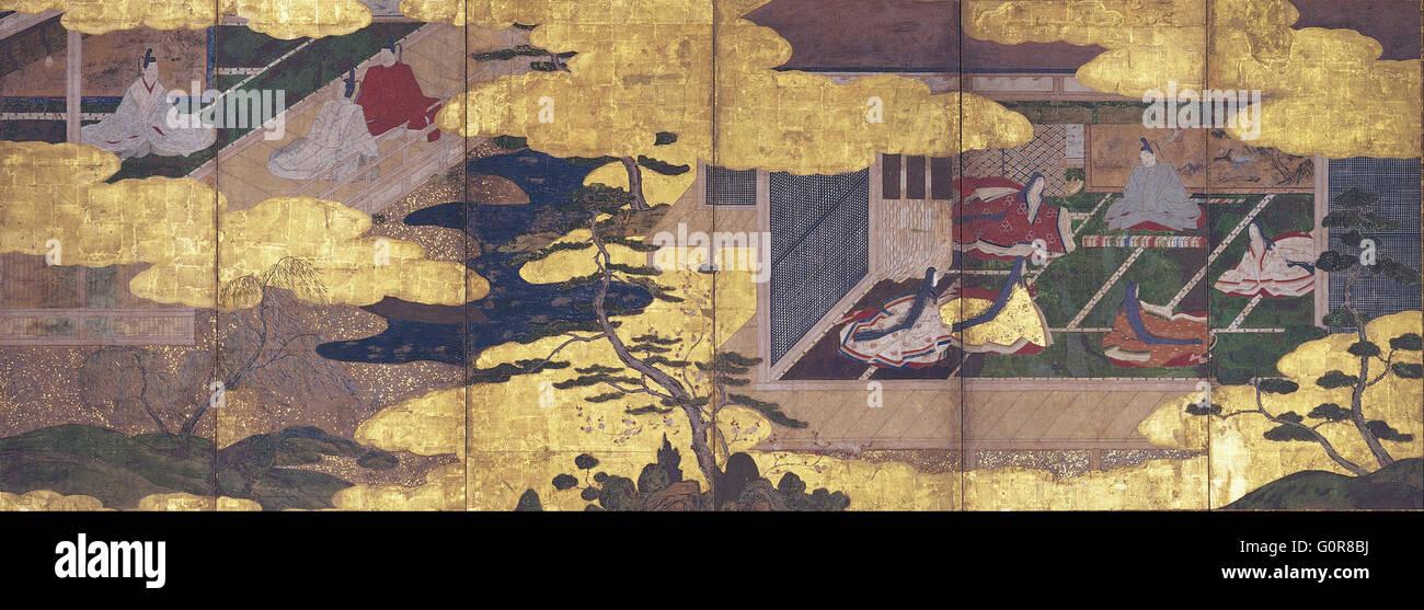 Racconto di Genji - Città di Osaka il Museo delle Belle Arti Immagini Stock