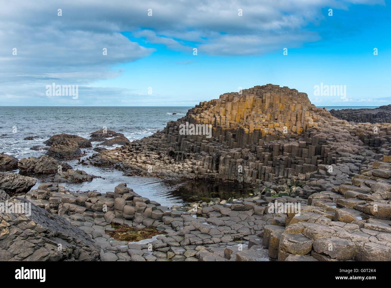 Giants Causeway, Co. Antrim, Irlanda del Nord. Foto Stock