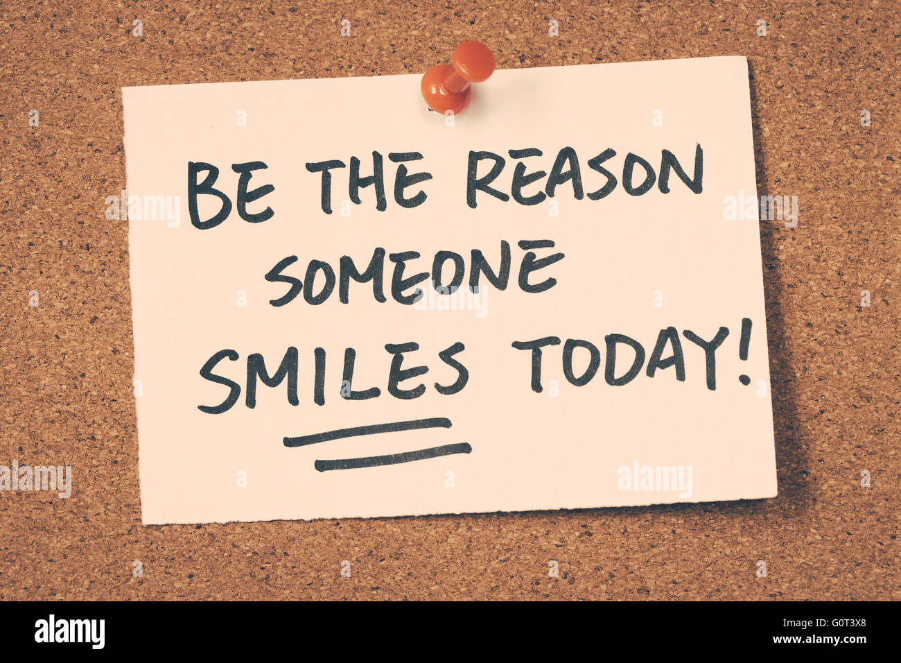 Essere il motivo per cui qualcuno sorride oggi Immagini Stock