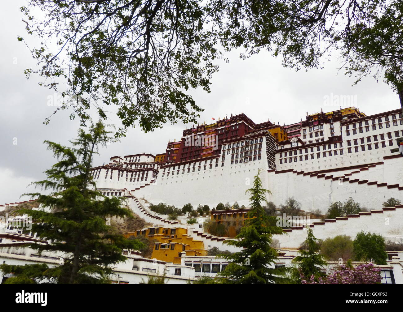 Palazzo del Potala, Lhasa, in Tibet Immagini Stock