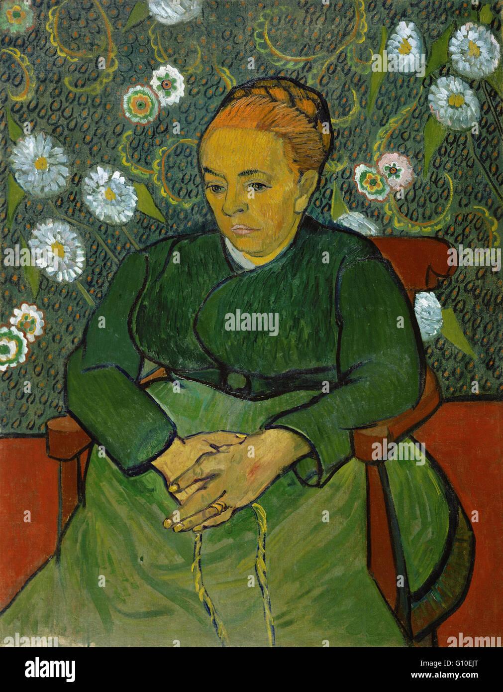 Vincent van Gogh - La berceuse (Portret van Madame Roulin) - Van Gogh Museum di Amsterdam Immagini Stock