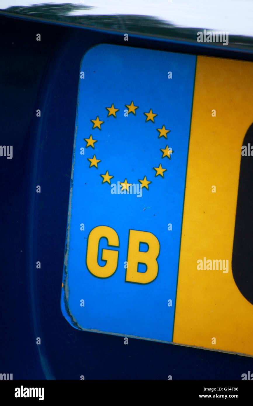 Kennzeichen: GB Grossbritannien, Berlino. Immagini Stock