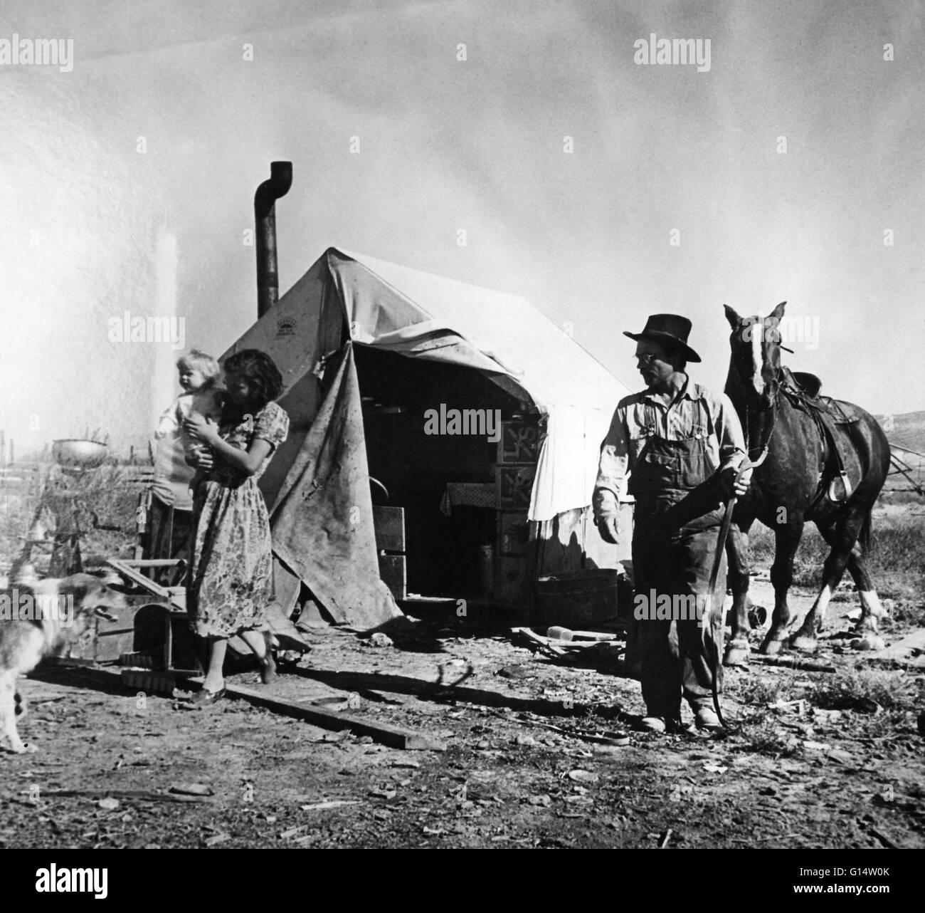 I lavoratori migranti durante la Grande Depressione. Immagini Stock