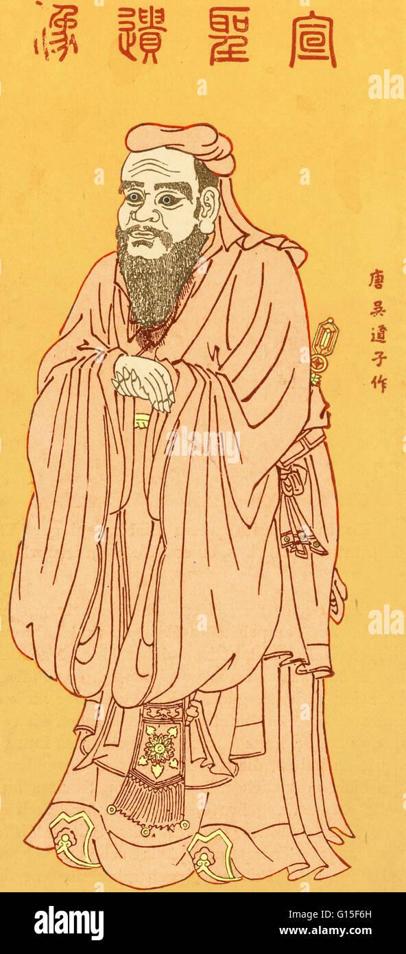 Confucio (551 BC-479 BC) era un cinese di pensatore e filosofo sociale della primavera e autunno periodo. La filosofia Immagini Stock