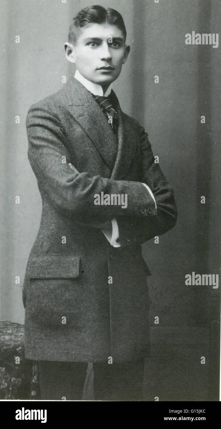 """Franz Kafka (1883-1924) era un tedesco autore di racconti e romanzi. Kafka è considerato come uno dei migliori scrittori del XX secolo. Il termine 'kafkiana"""" è diventata parte della lingua inglese. Morì di tubercolosi all'età di 40. Kafka's wri Foto Stock"""
