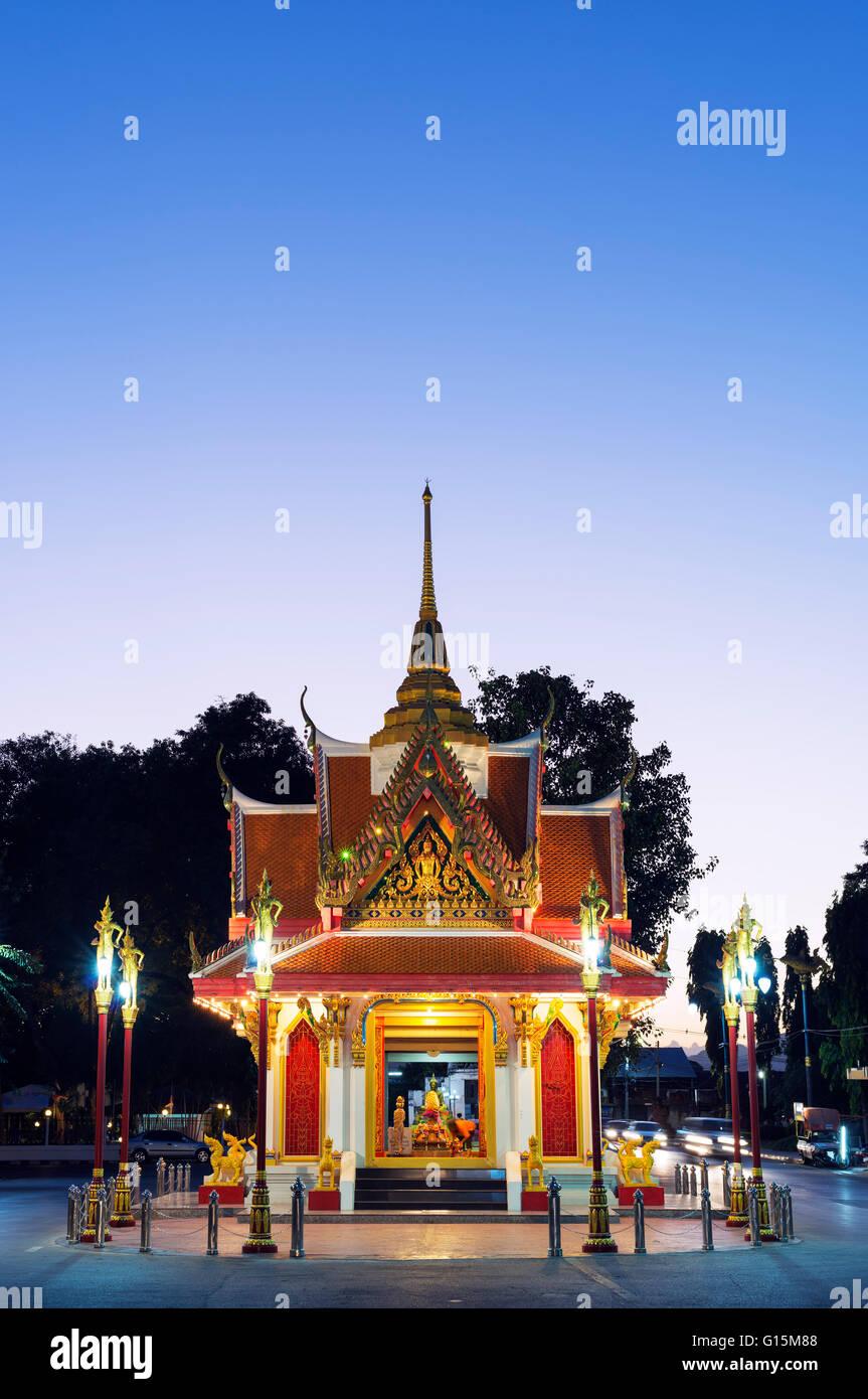 City Gate, Kanchanaburi, Thailandia, Sud-est asiatico, in Asia Immagini Stock