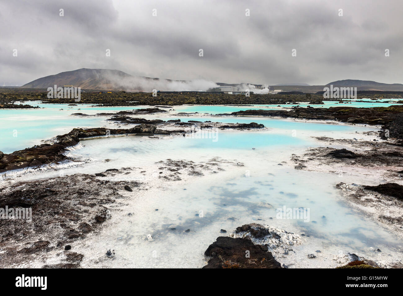 La Blue Lagoon, Islanda, regioni polari Immagini Stock