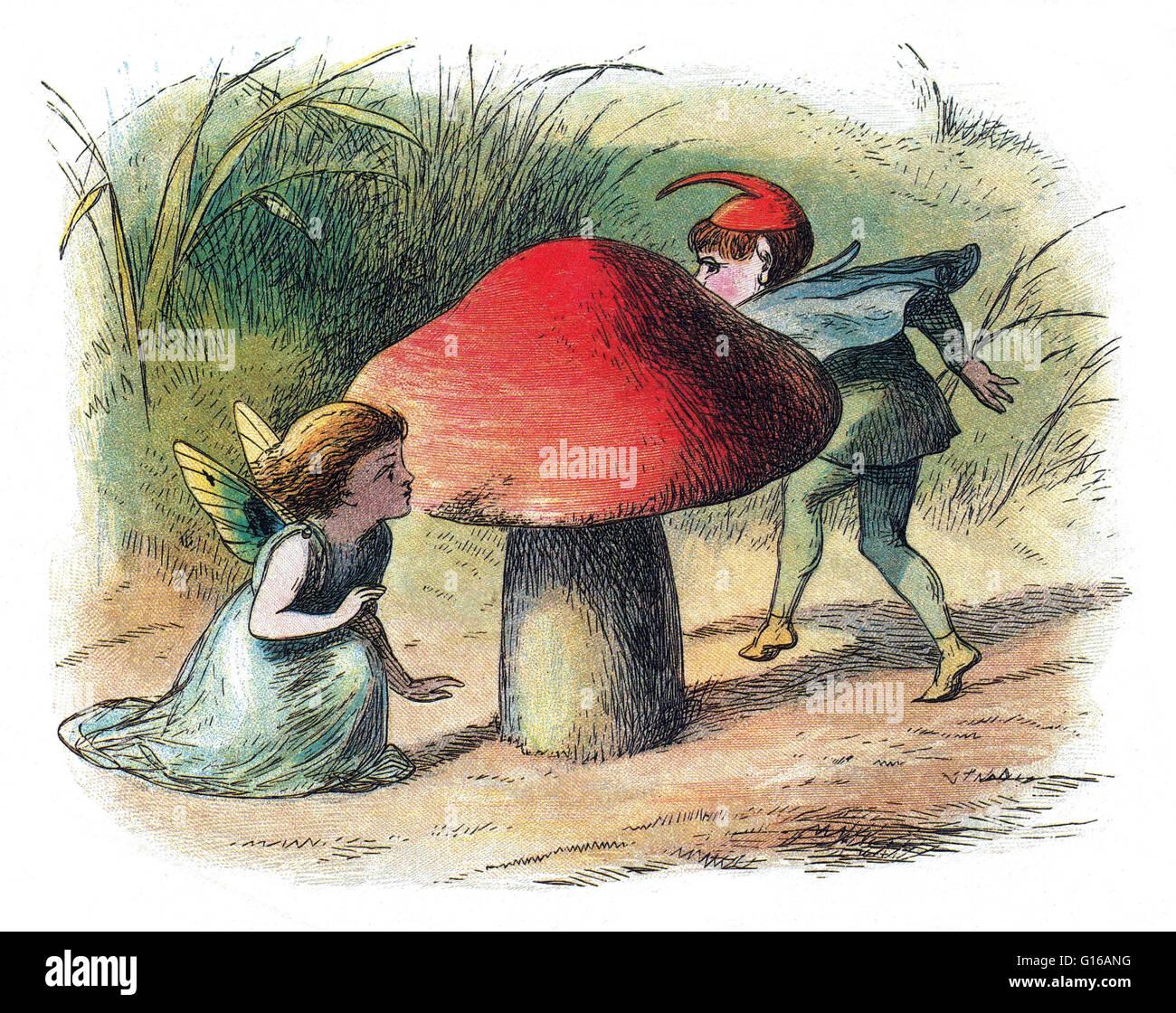 Fata e Elf. Una Fata è un tipo di mitici essendo o una creatura leggendaria nel folklore europeo, una forma Immagini Stock