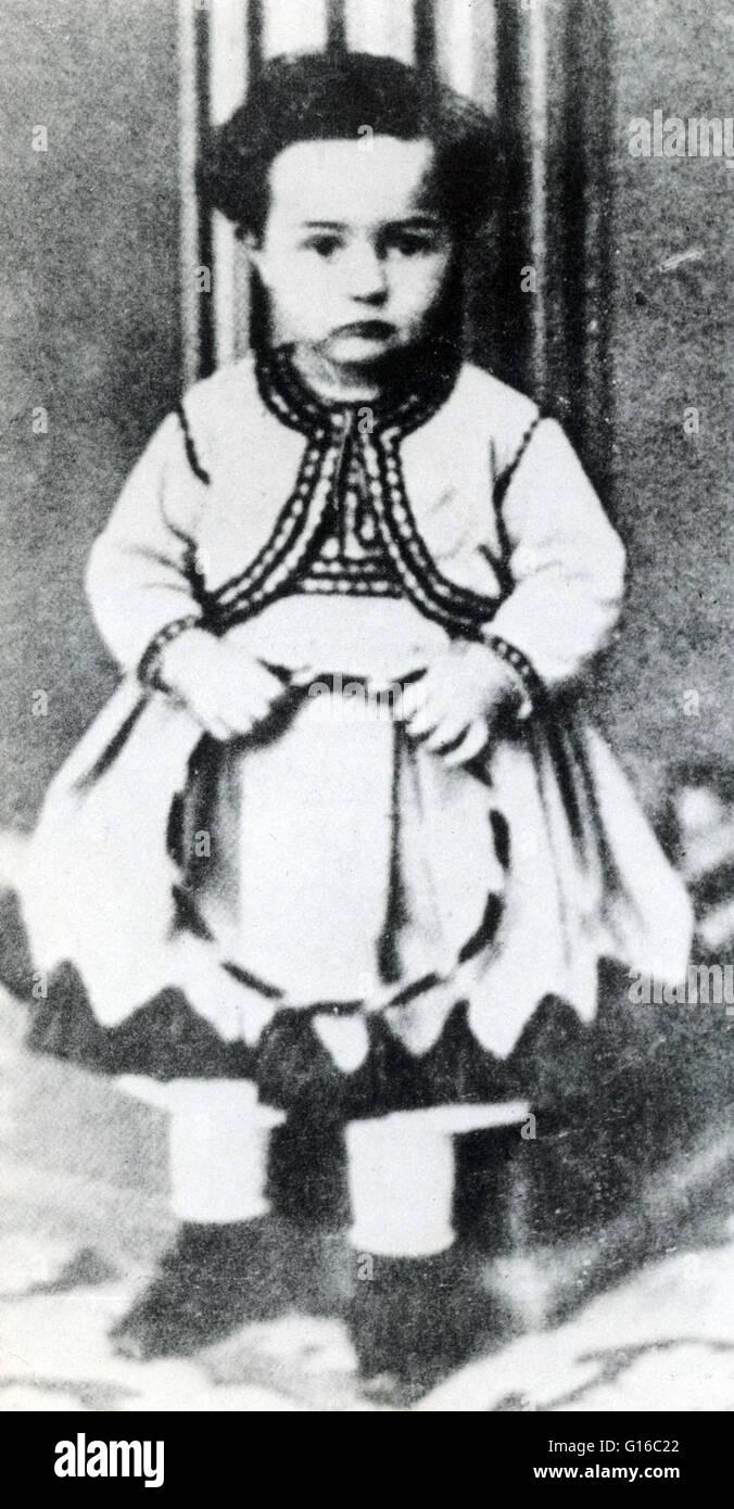 Toulouse-Lautrec fotografato all'età di 3. Henri de Toulouse-Lautrec, 24 novembre 1864 - 9 settembre 1901) è stato un pittore francese, printmaker, disegnatore e illustratore. Egli è tra i più noti pittori del periodo Post-Impressionist. Il suo Foto Stock