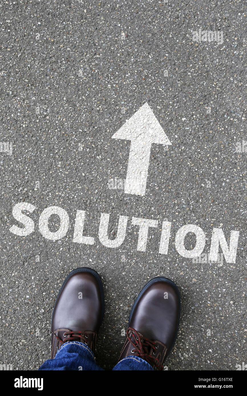 Il concetto di business con la soluzione per il problema di successo di successo Immagini Stock