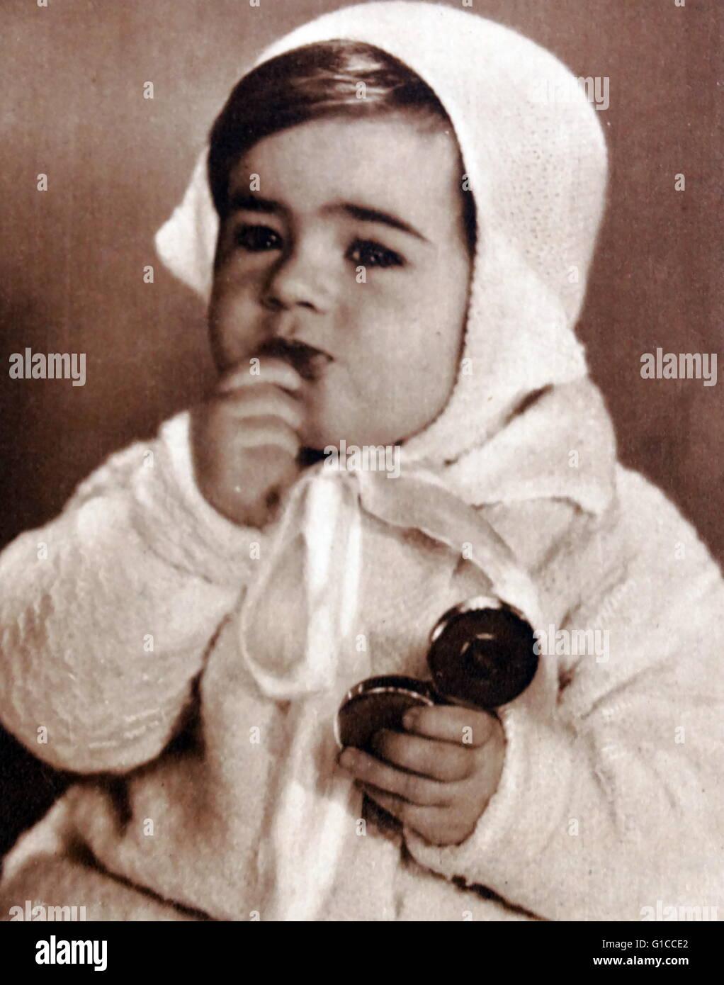 Vintage fotografia di un bambino in Inghilterra 1930 Immagini Stock