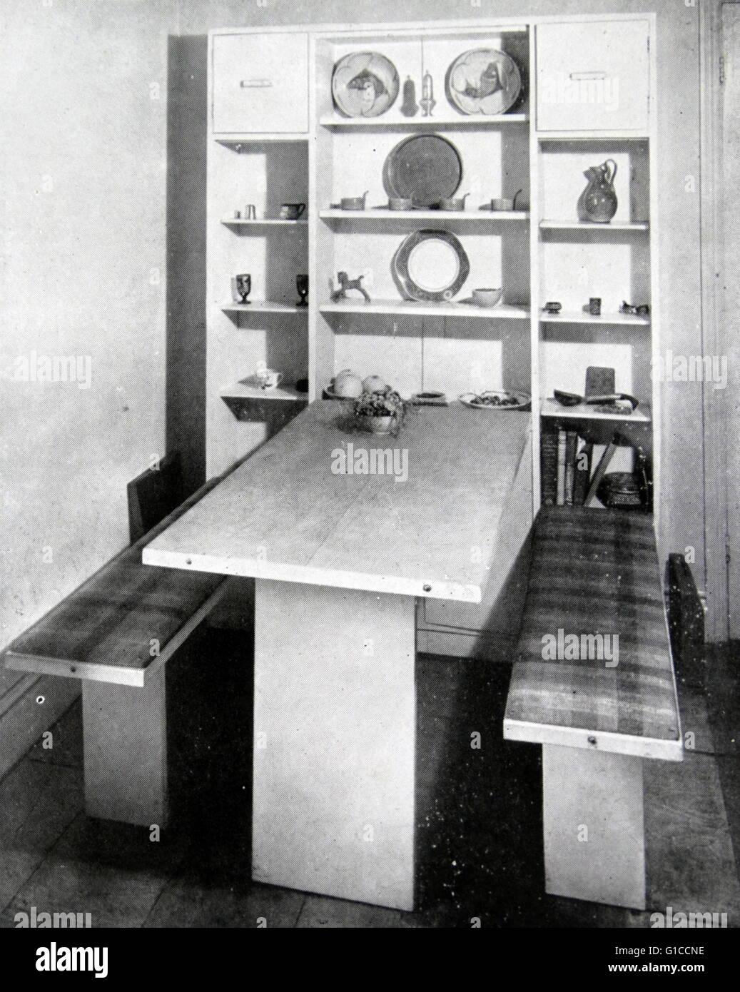 Fotografia di un moderno anni cinquanta la cucina americana. In data ...
