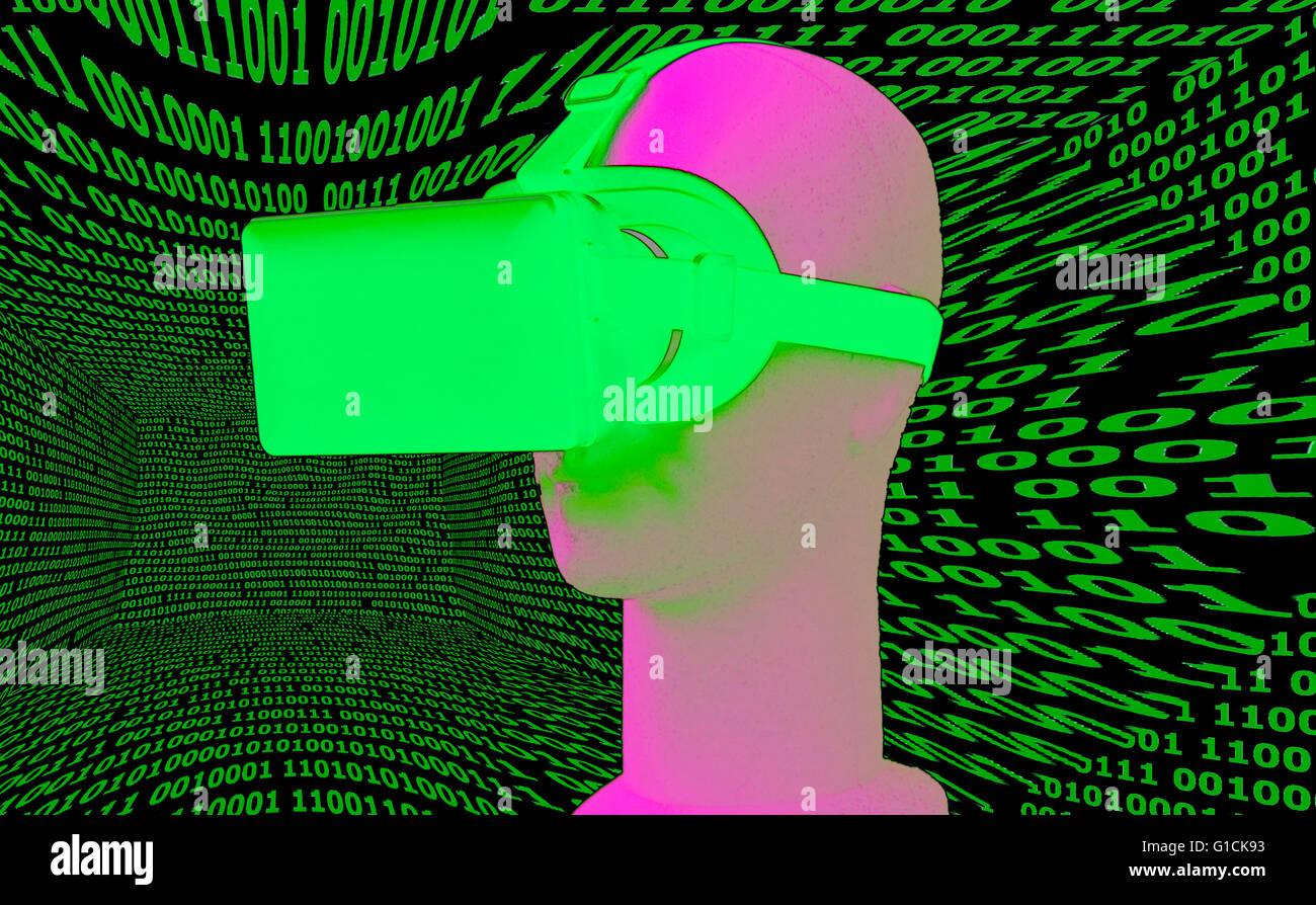 Symbolbild VR/ Virtuelle Realitaet - Datenbrille. Foto Stock