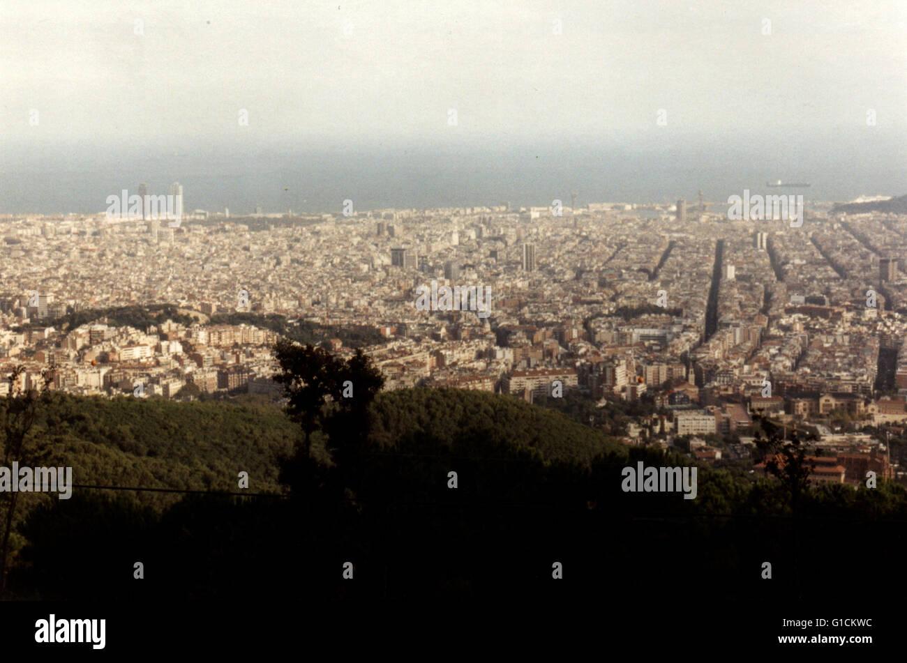 Lo skyline di Barcellona Foto Stock