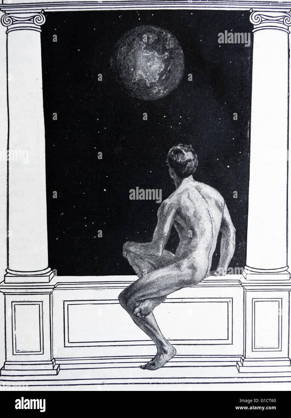 Illustrazione da Harmsworth storia del mondo: l'uomo e l'universo Immagini Stock