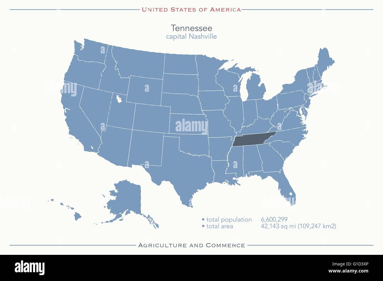 Stati Uniti Cartina Fisica E Politica.Stati Uniti D America Mappa Isolato E Tennessee Membro Territorio Vettore Politico Usa Mappa Geografica Modello Di Pagina Di Intestazione Immagine E Vettoriale Alamy