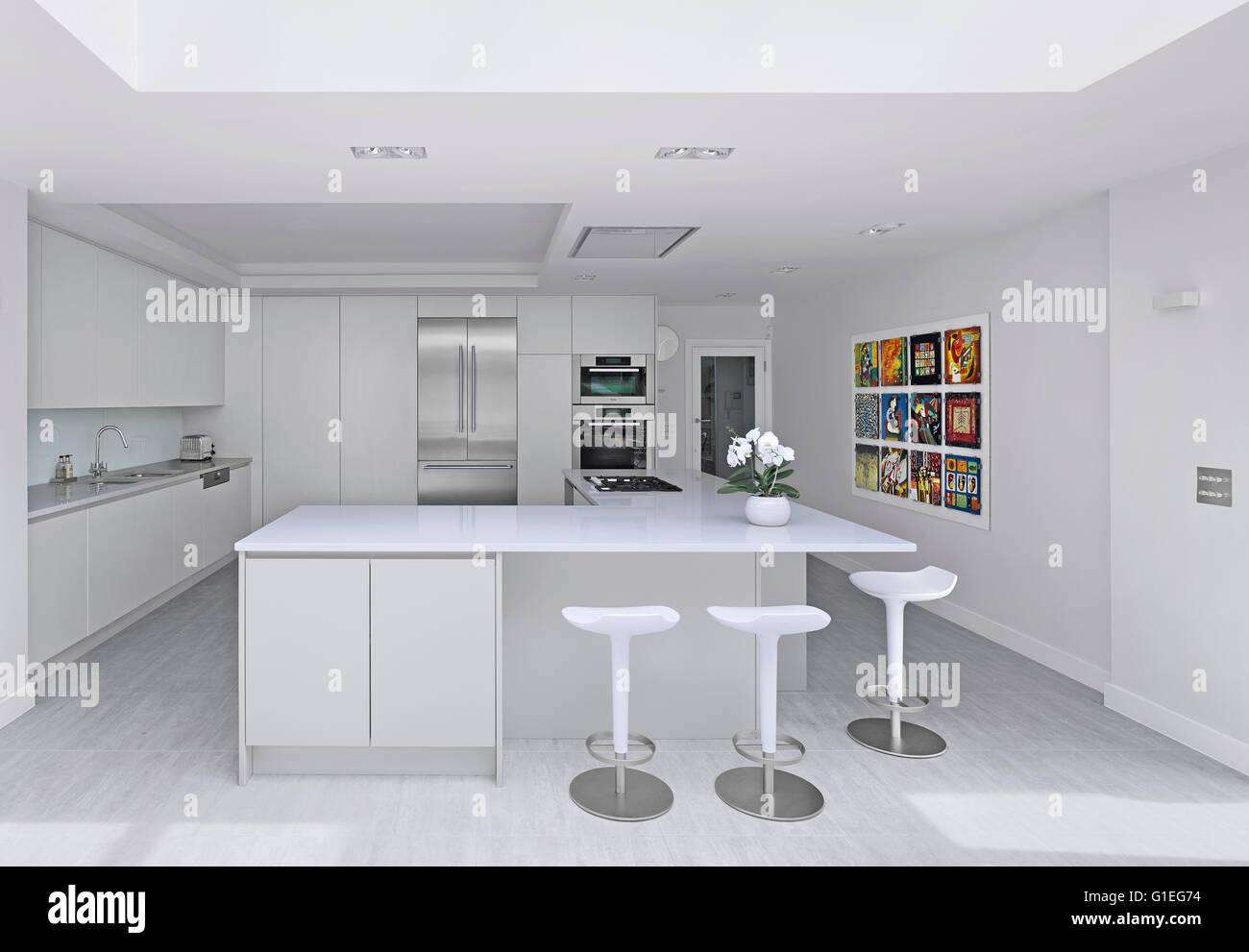 Cucina Ultra Moderna.Wood Lane House Una Cucina Estensione Nel Nord Di Londra