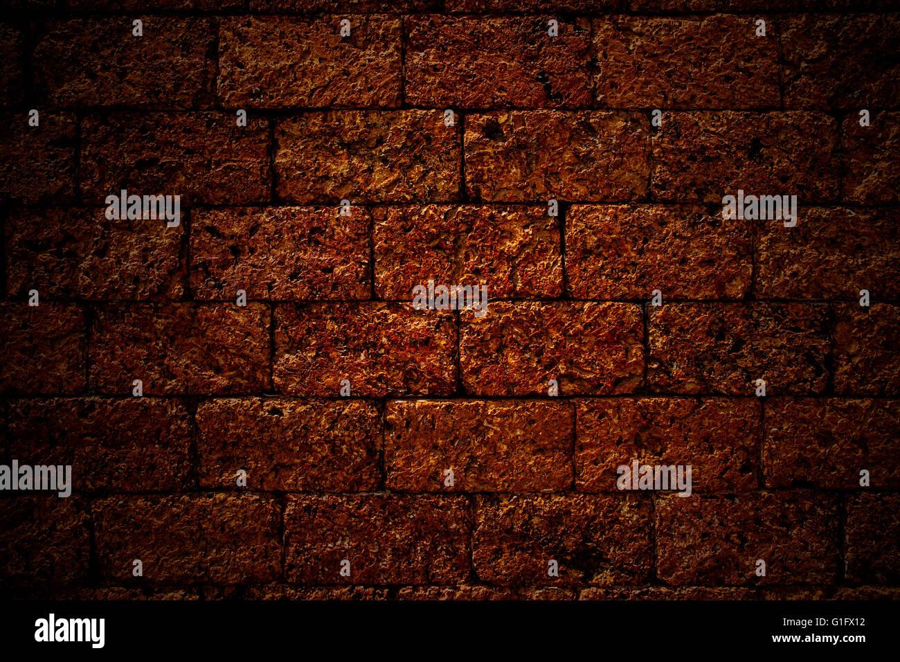 Rosso Antico Muro Di Pietra Texture Sfondo Foto Immagine Stock