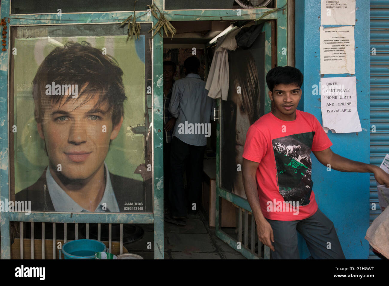 Parrucchiere, Hyderabad Immagini Stock