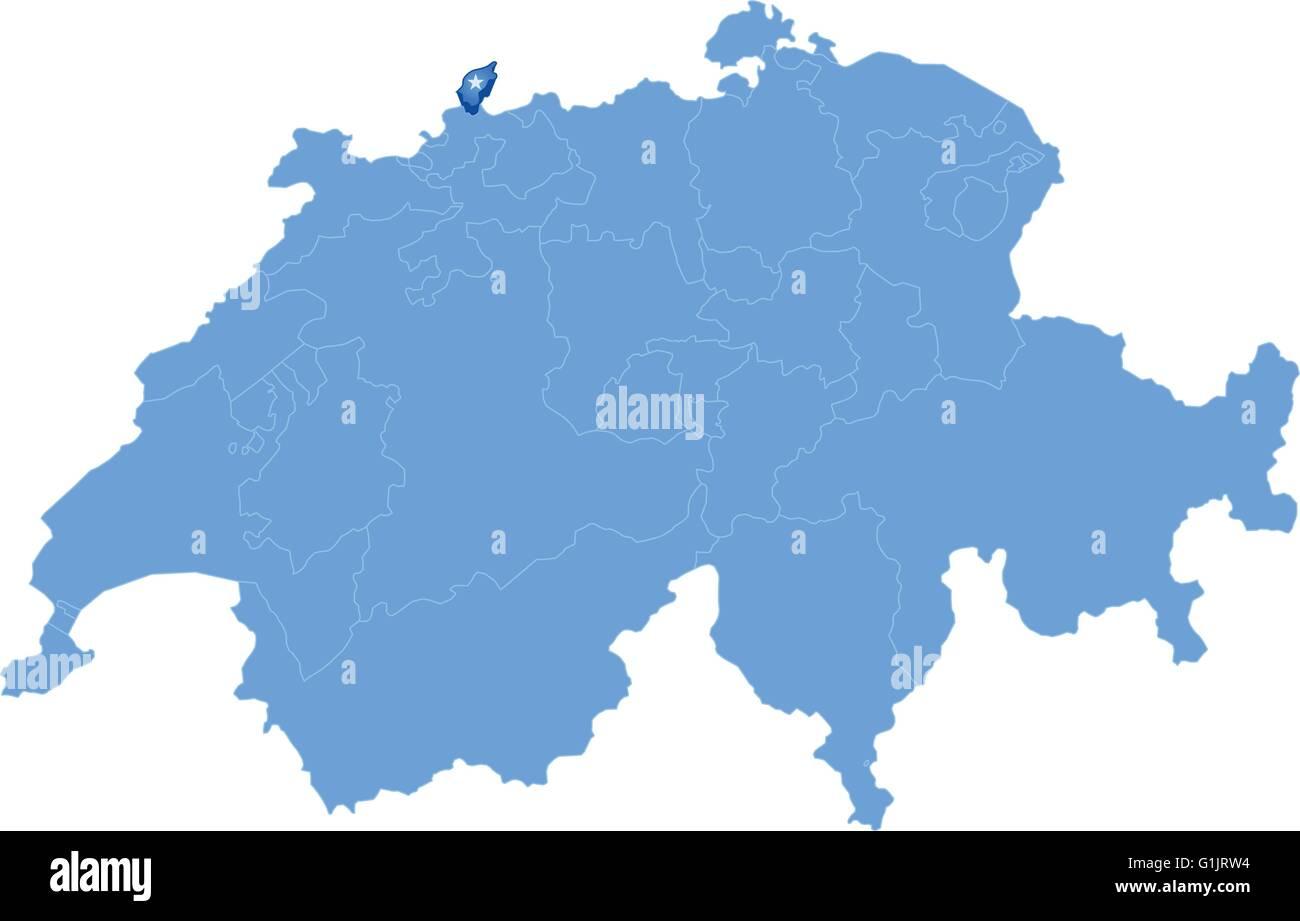 Cartina Svizzera Cantoni Vuota.Mappa Politico Della Svizzera Con Tutti I Cantoni Dove Basel Stadt E Tirato Fuori La Mappa Di Base Generata Usando I Dati Mappa Da Publ Immagine E Vettoriale Alamy