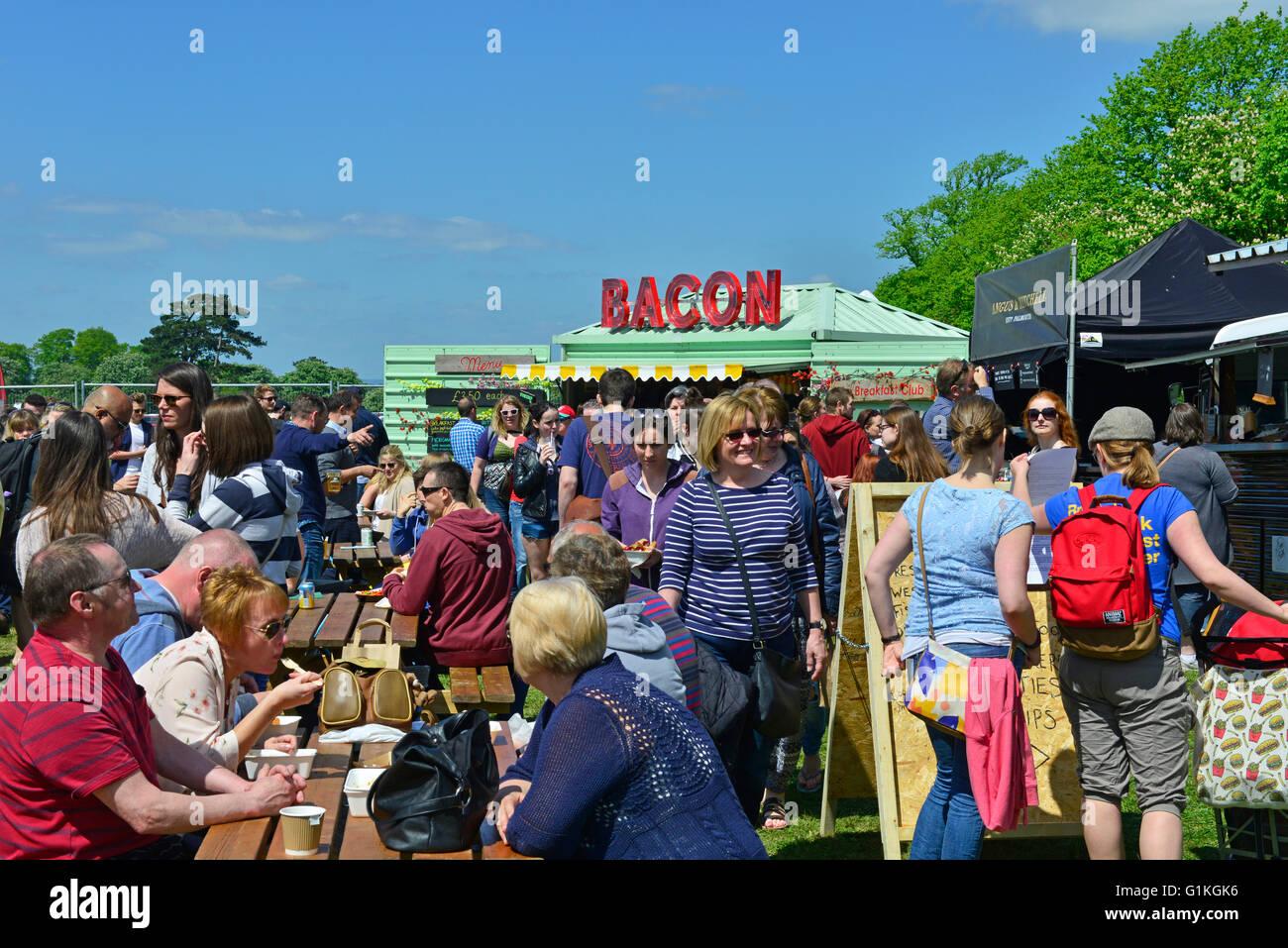 Bristol buongustai festival clifton downs maggio 2016 su una calda giornata di sole Immagini Stock