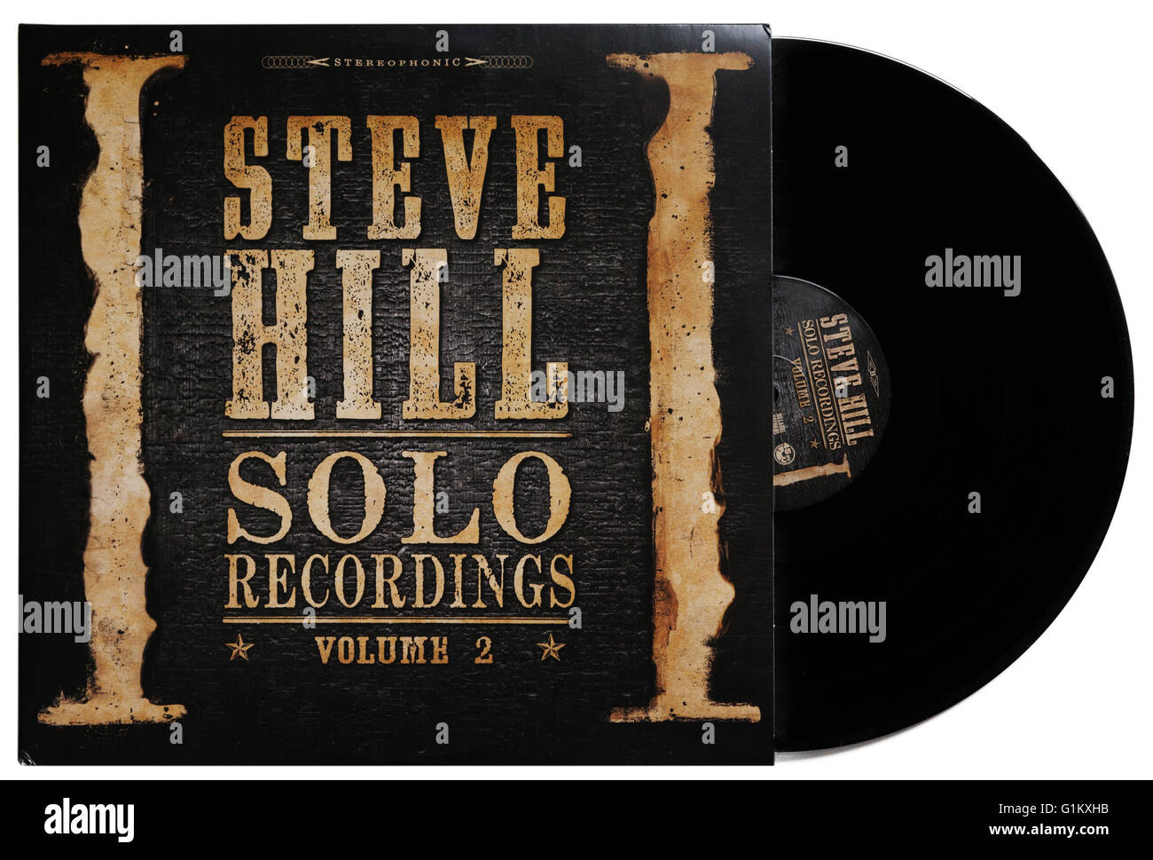 Steve Hill registrazioni da solista Volume 2 album Immagini Stock