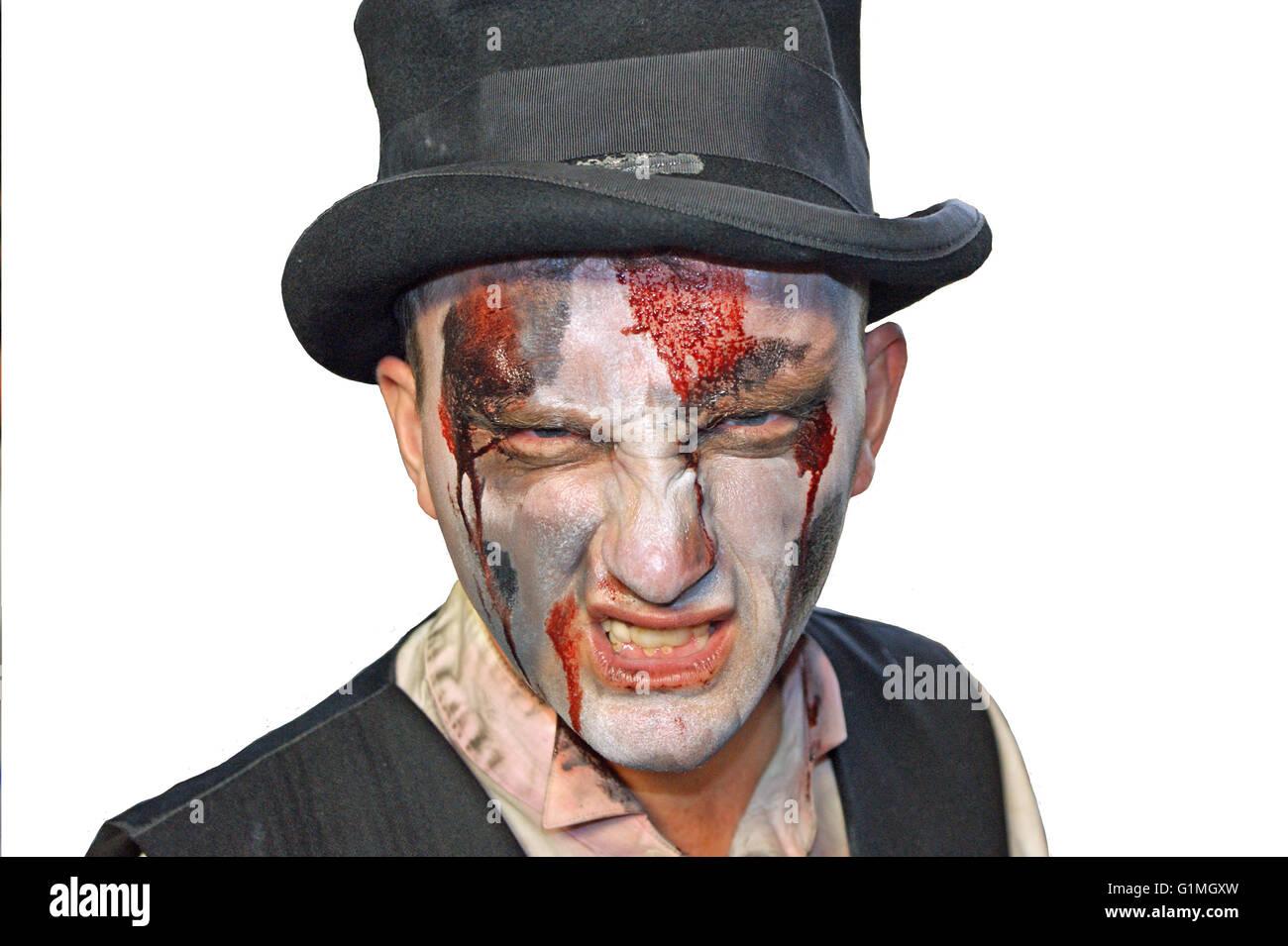 """Orrore compongono di """" morti viventi"""", horror di Londra, Halloween in anticipo, sfondo bianco Immagini Stock"""